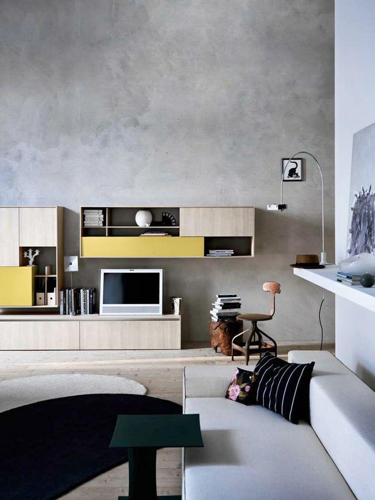 C_DAY K14 | Wall-mounted storage wall by CESAR ARREDAMENTI | #design Gian Vittorio Plazzogna @Cesar Cucine  Living