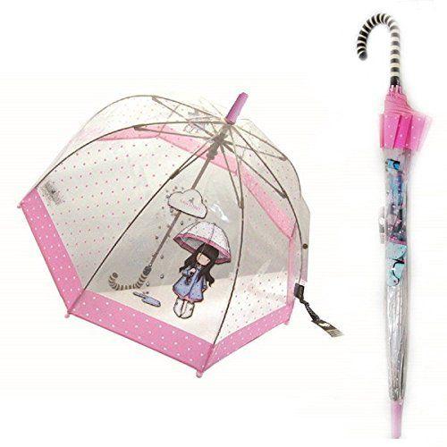 Paraguas Gorjuss Santoro infantil. Modelos en color verde o rosa - http://comprarparaguas.com/baratos/infantiles/paraguas-gorjuss-santoro-infantil-modelos-en-color-verde-o-rosa/