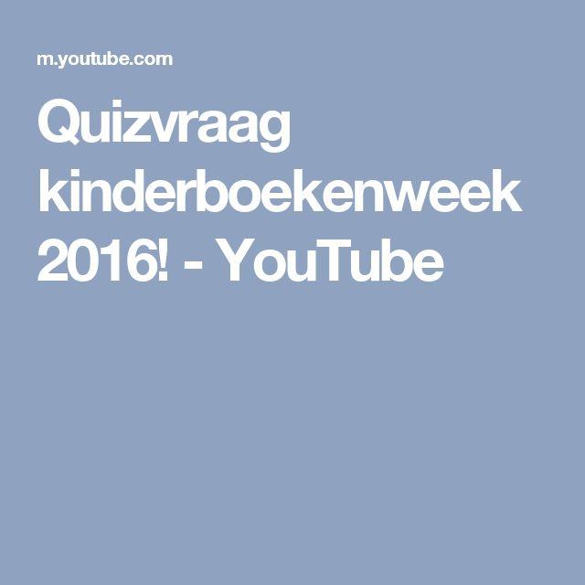 Quizvraag kinderboekenweek 2016! - YouTube