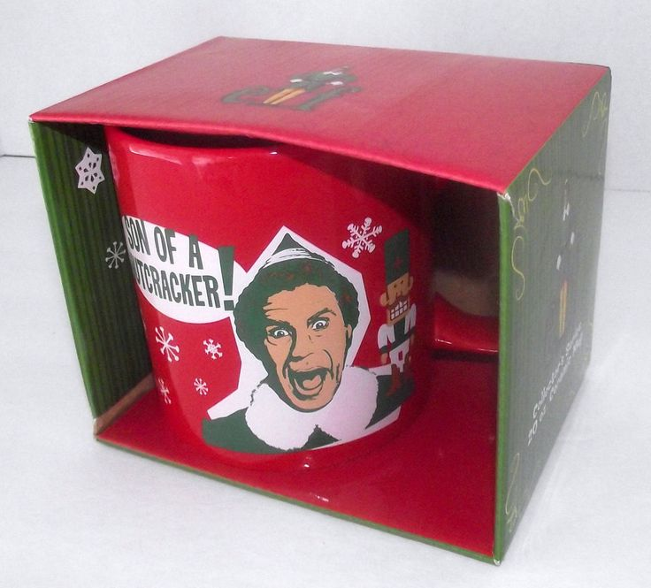 Elf Buddy Mug Will Ferrell Son Nutcracker Movie Coffee Christmas Holiday NEW 20