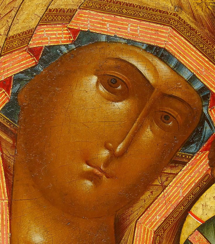 Detailed view: VV034. Virgin of Kazan- exhibited at the Temple Gallery, specialists in Russian icons