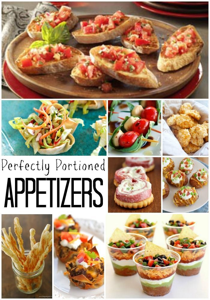 Perfectly Portioned appetizers