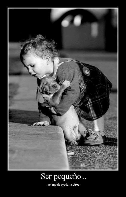 Ser pequeño no impide ayudar a otros