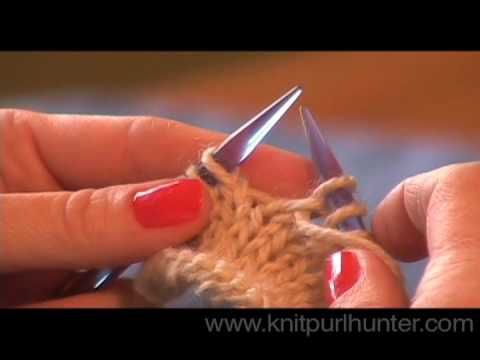 Two types of yarn overs are demonstrated here - a yarn over preceding a knit stitch and a yarn over preceding a purl stitch.  Every knitter should have both in their knitting know-how!