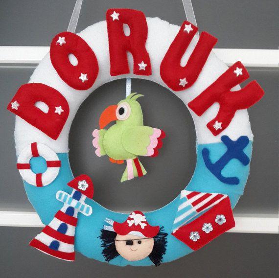 Nautical Nursery Decor-Nautical Kids Room by PinkBlinds on Etsy