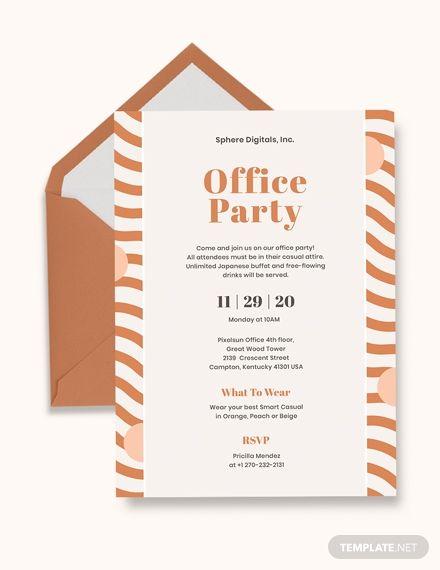 Office Party Invitation Invitation Templates  Designs 2019