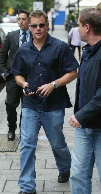 Matt Damon wearing TAG Heuer