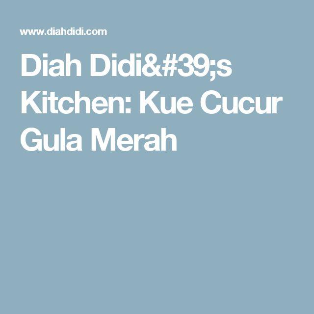 Diah Didi's Kitchen: Kue Cucur Gula Merah