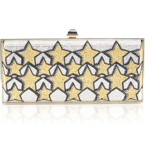 Judith Leiber Couture Large Coffered Rectangle Stars Clutch (64.570 ARS) ❤ liked on Polyvore featuring bags, handbags, clutches, yellow, white handbags, yellow clutches, yellow purse, yellow handbags and star purse