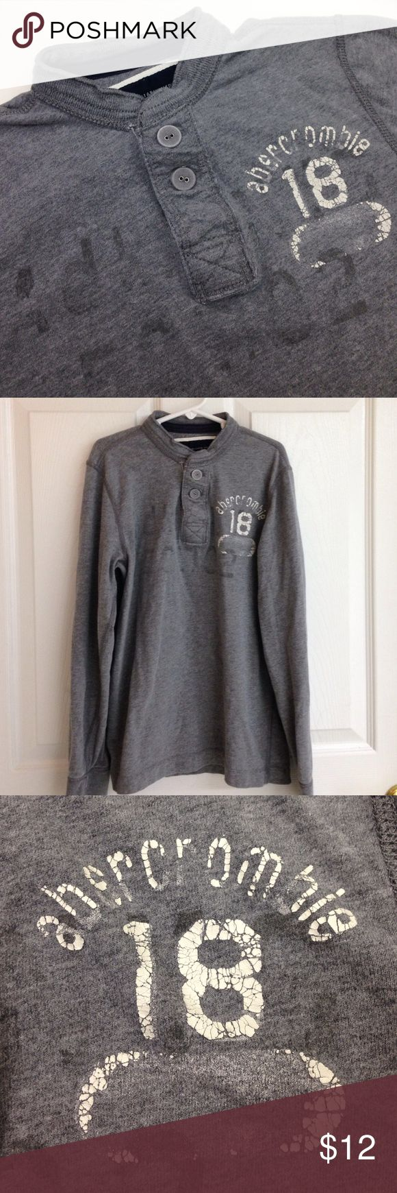 Abercrombie Henley Long Sleeve Shirt abercrombie long sleeve Henley shirt. Size M. 100% cotton in very good condition. abercrombie brand is for young children abercrombie Shirts & Tops Tees - Long Sleeve