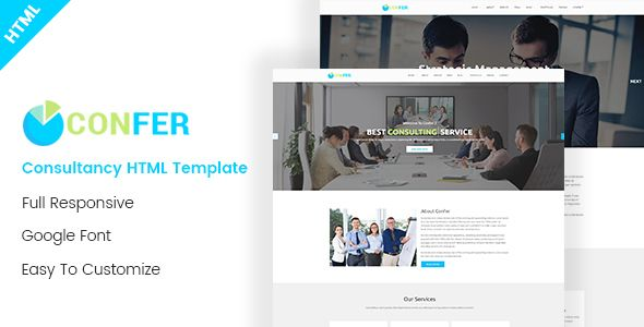 Confer - Consultancy, Finance & Business HTML Template - Business Corporate