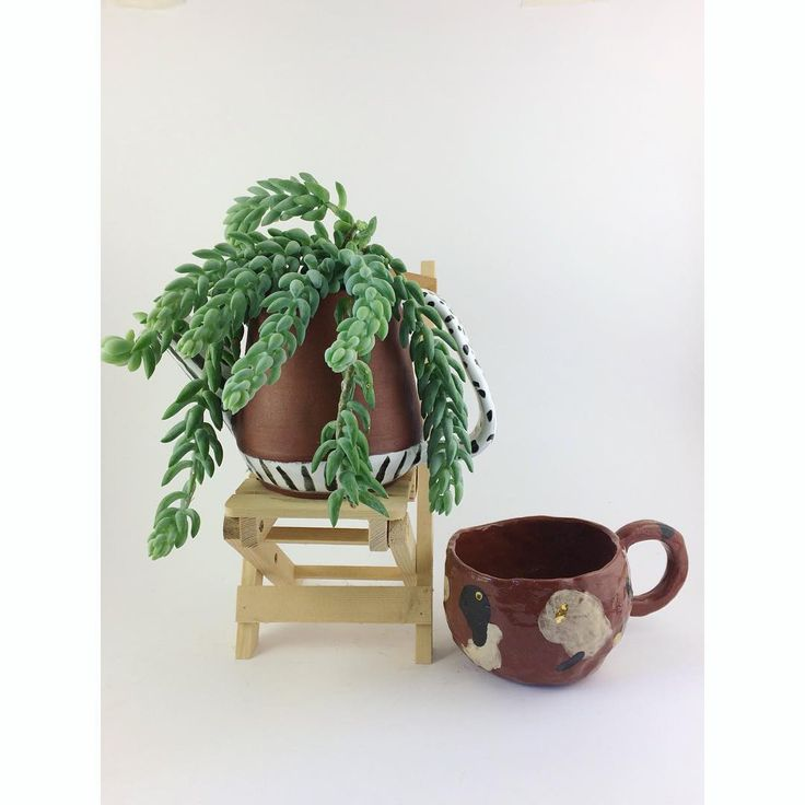 Ceramic cup terracotta