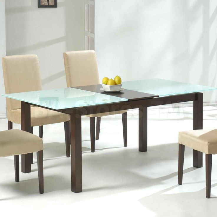 New oval glass top dining table with wood base at xx14.info