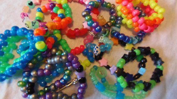 Kandi Pony Beads And Rave: 25+ Best Ideas About Pony Bead Bracelets On Pinterest