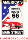 applique Historic Route 66 Garden Flag - 4 left
