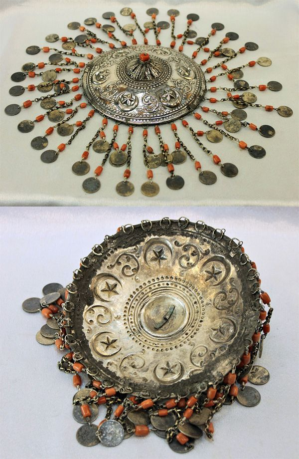 Ottoman silver and coral bridal headpiece | 18th/19th century | 2,200$