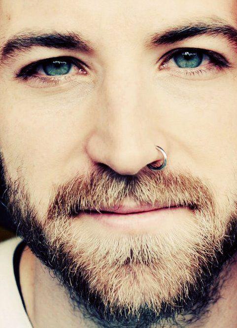 sandy blond beard and a piercing. Whoa.