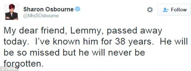Motorhead rocker Lemmy Kilmister dies aged 70 #dailymail
