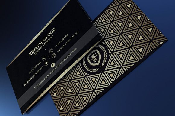 Gold and Black business card #41 by@Graphicsauthor