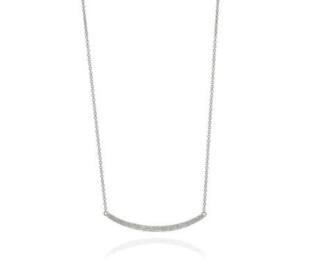 Skinny Curve Necklace | Monica Vinader
