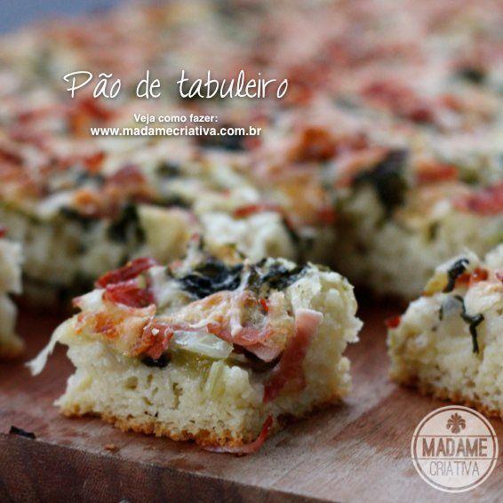 Receita pão de tabuleiro - pão salgado com recheio em cima - Massa fofa de batata - Dicas de Como fazer - Passo a Passo com fotos- tutorial ...