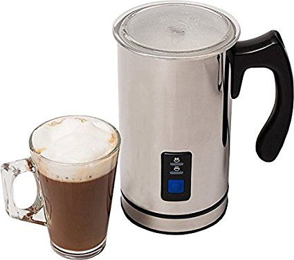 Home Treats Milk Frother & Warmer, Foam With Hot or Cold Milk for Lattes Cappachinos. 250ml