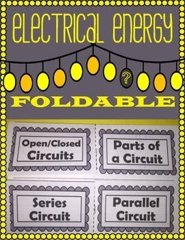 Electrical Energy Foldable: Types of Circuits. Streamlined foldable that has students define, describe and give examples of different kinds of circuits.Have students follow along as you fill out foldable on the projector. Show students the path of energy flow by tracing electrical pathways with highlighter.