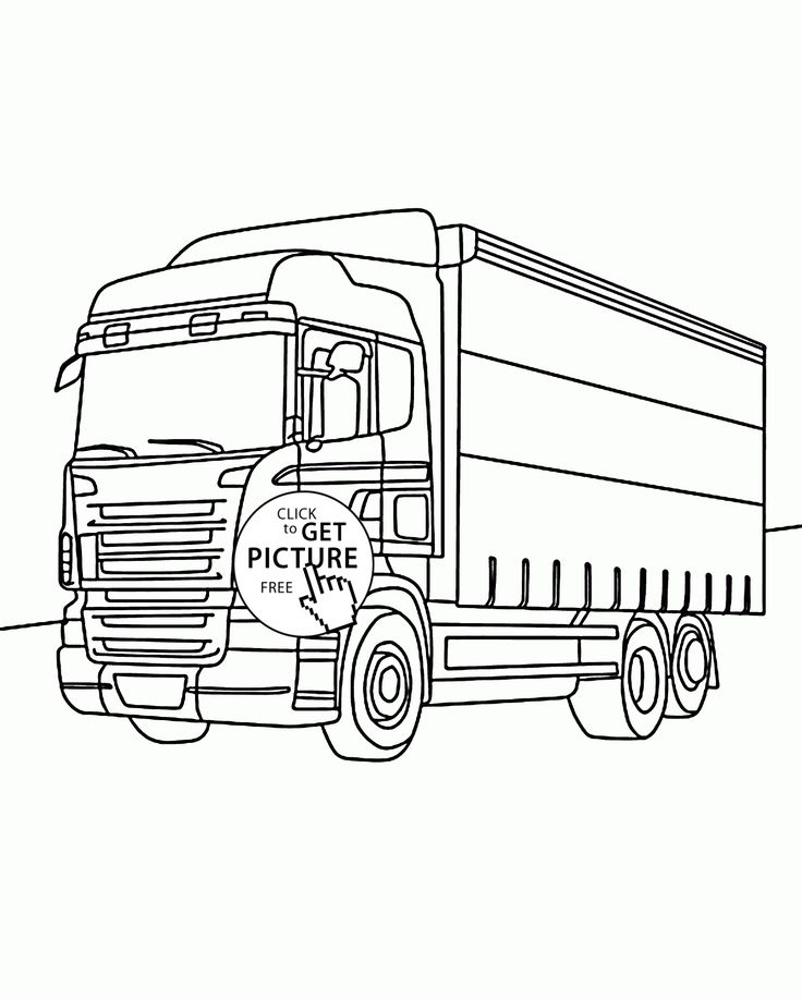 Nice Box Truck coloring page for kids, transportation