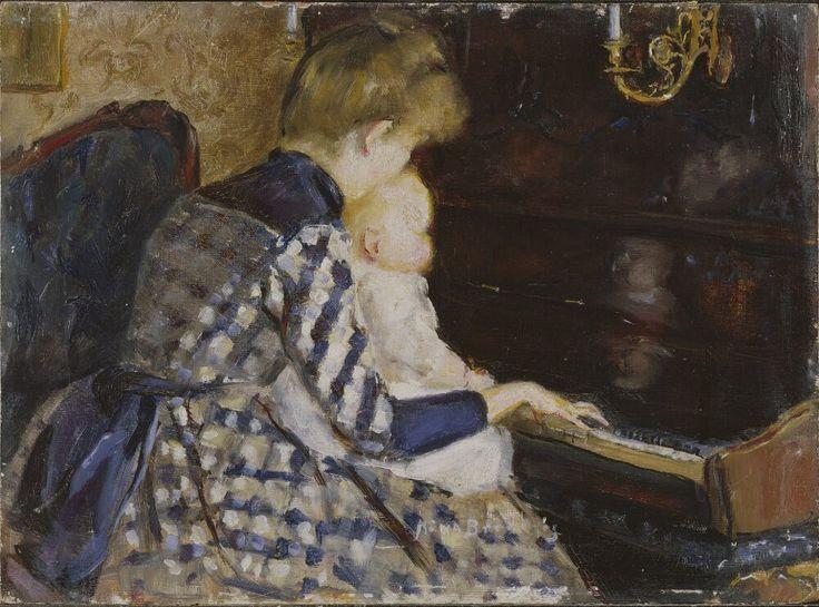At the Piano | Mina Carlson-Bredberg | 1890 | Nationalmuseum, Sweden | Public Domain Marked