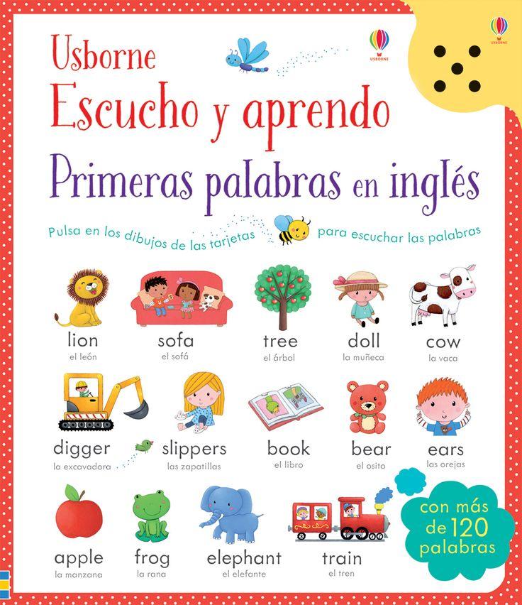 Una manera divertida e interactiva de aprender vocabulario en inglés, ya que podrán escuchar en inglés nativo más de 100 palabras de uso cotidiano.  #niños #paraniños #librosparaniños #lecturainfantil #literaturainfantil #bebé #bebés #parabebés #peque #libros #aprende #inglés