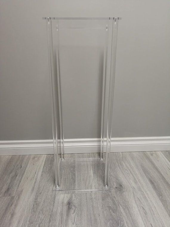 Acrylic Modern Rectangle Stand Geometric Vase Acrylic Frame