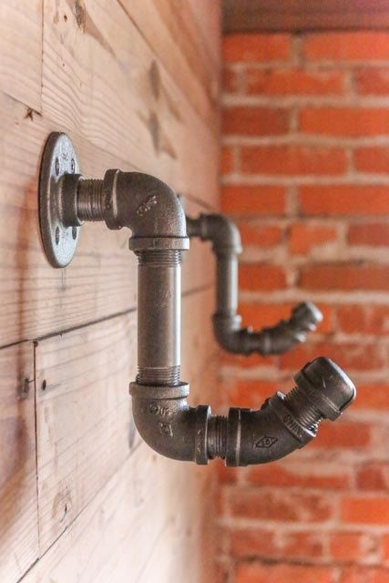 Industrial Pipe Furniture Industrial Pipe Coat Hook 25
