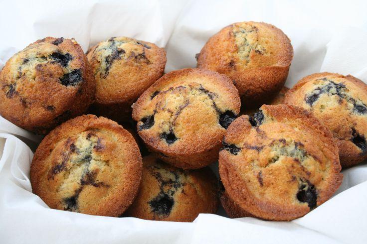 Blåbær muffins med hvid chokolade   Rørbæks Mad & Vin