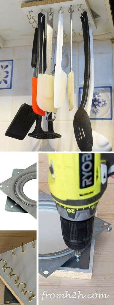 Check out the tutorial: #DIY Rotating Utensil Rack #crafts #kitchen