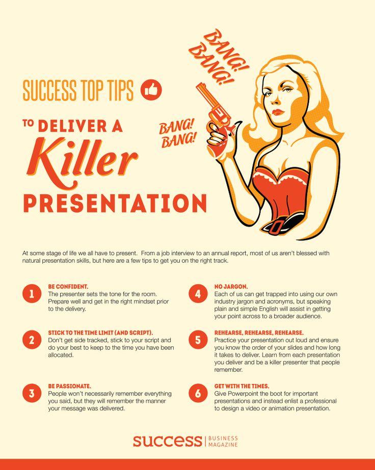 Success Top Tips to deliver a Killer Presentation November 2014 http://successbusinessmag.com.au/