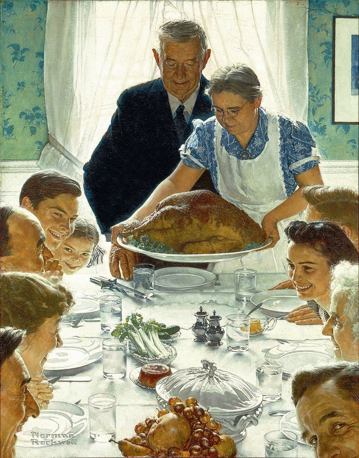 Vintage et cancrelats: Norman Rockwell : Freedom From Want, 1943                                                                                                                                                                                 Plus
