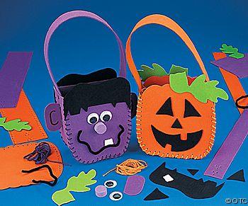Bolsas para guardar caramelos en Halloween – Manualidad para niños