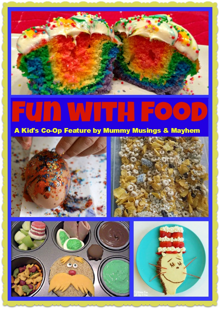 Mummy Musings and Mayhem: A collection of Kid's Co-op fun activities and baking with food for kids of all ages!