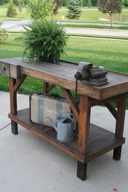 Industrial Work Bench (makes a great buffet!).