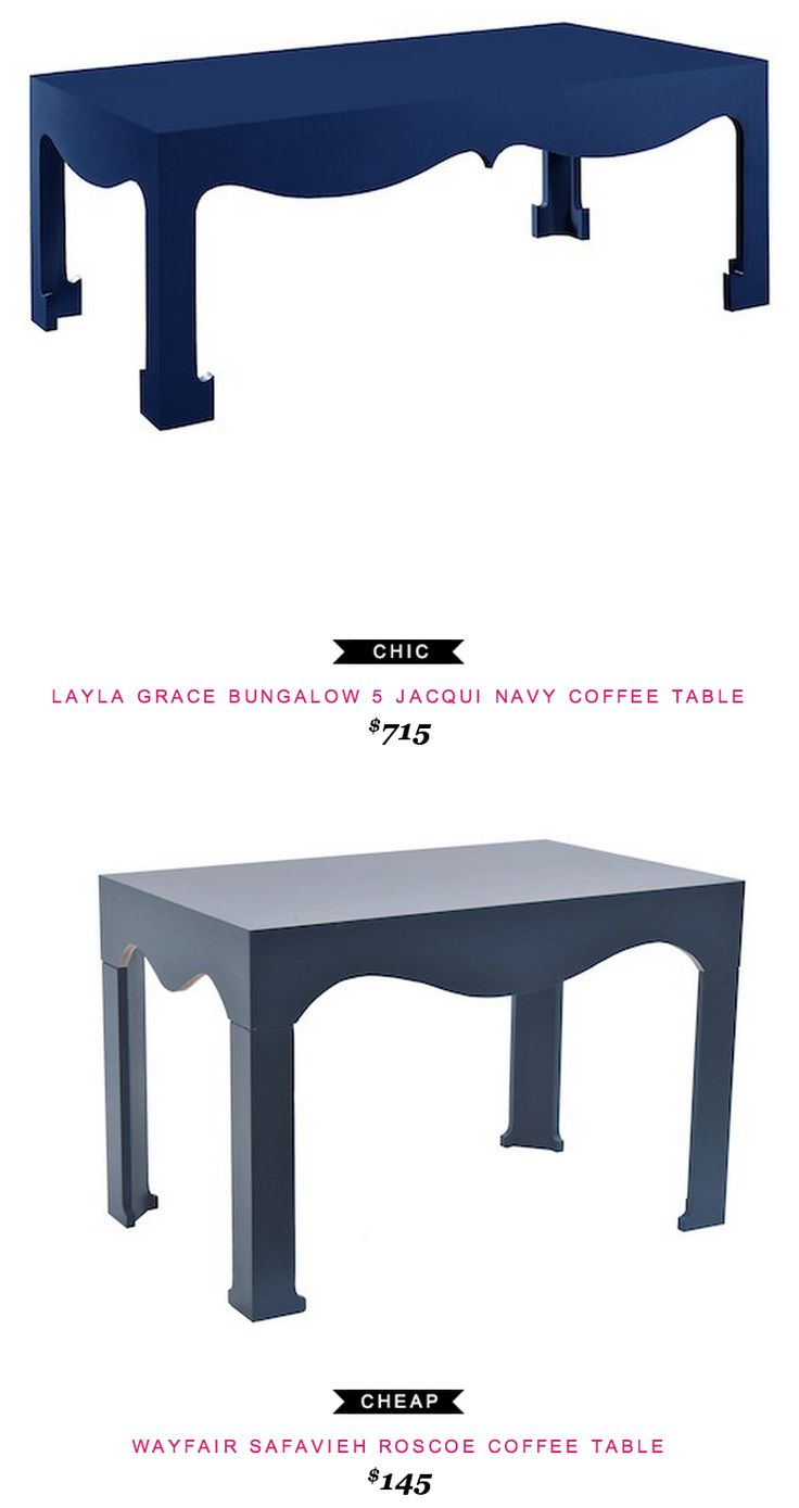 982922aee0f Layla grace Bungalow 5 Jacqui Navy Coffee Table  715 -vs- Wayfair Safavieh  Roscoe Coffee