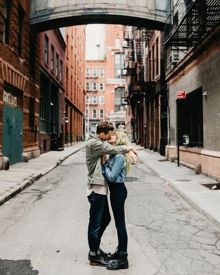Hip New York City Couples/Engagement Session Staple Street Bridge