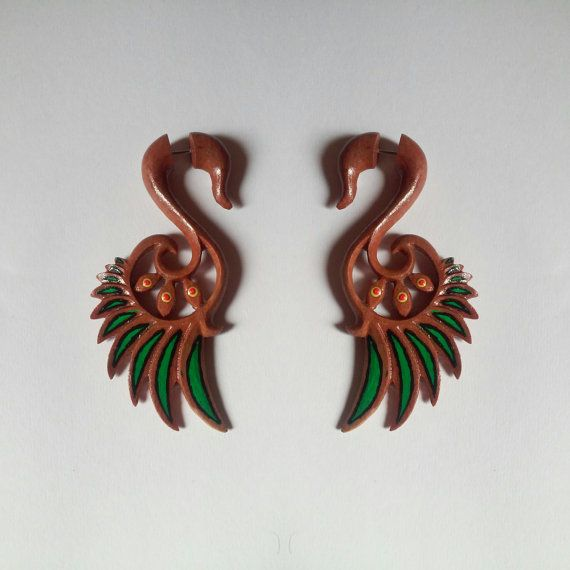 Check out this item in my Etsy shop https://www.etsy.com/listing/268520109/fake-gauge-earrings-wings-wooden