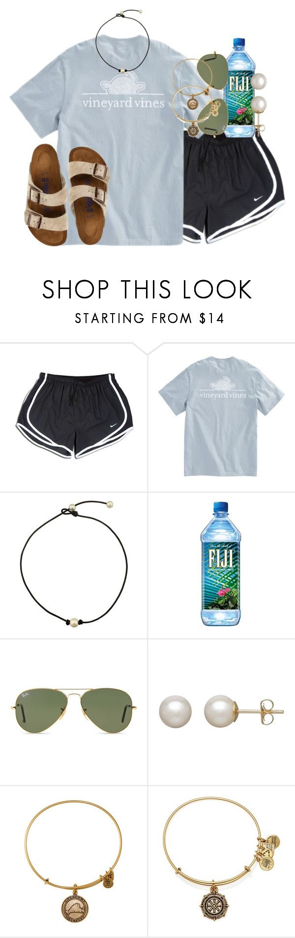 """""""got these birks"""" by smbprep ❤ liked on Polyvore featuring NIKE, Ray-Ban, Honora, Alex and Ani and Birkenstock"""