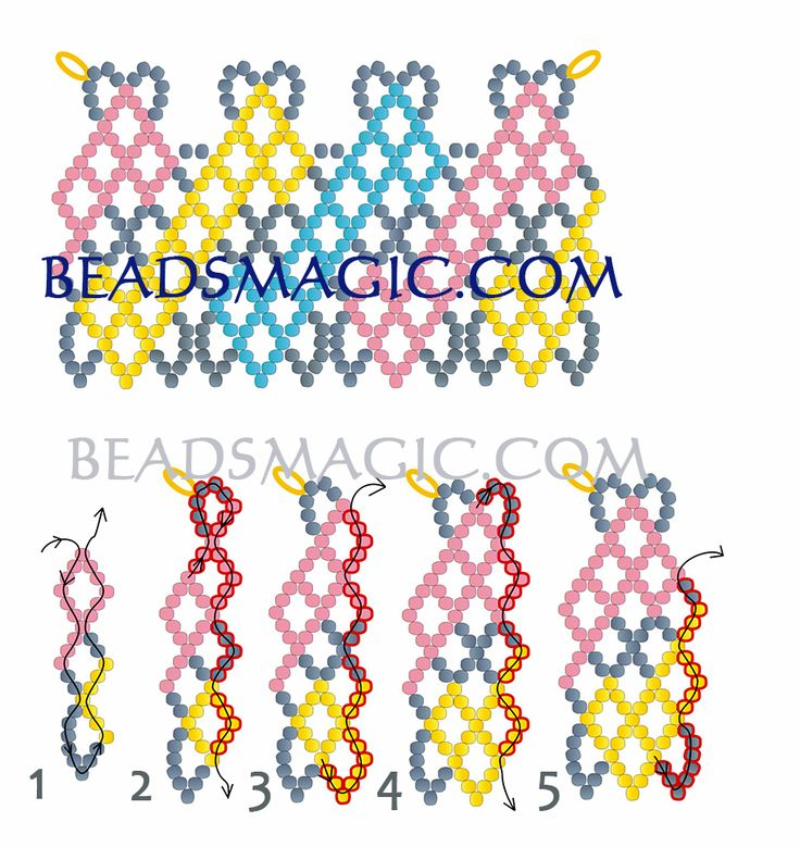 FREE Pattern for necklace CIRCUS. Page 2/4. Use: seed beads 11/0. Beads Magic