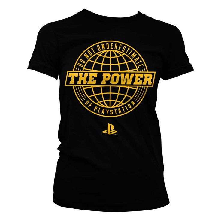 Hybris PlayStation - The Power Of PlayStation dames T-shirt zwart - Ga