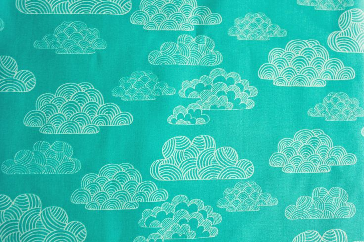 Cloud 9 Fabrics, Eloise Renouf, First Light, Nimbus, Turquoise, Mint, Organic Cotton, Quilting Sewing Material, Half Metre by TCRFabricStore on Etsy