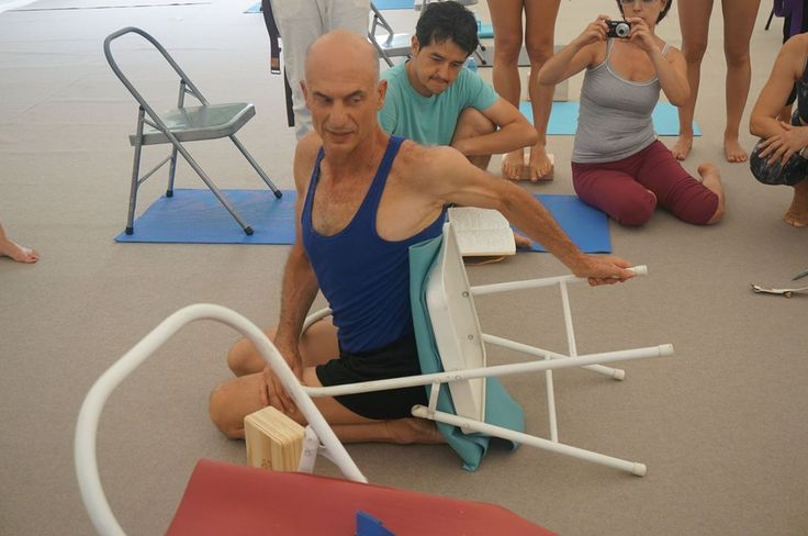 11 best images about iyengar yoga chair twists on for Chaise yoga iyengar