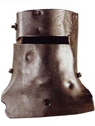 Ned Kelly's iconic helmet and visor.