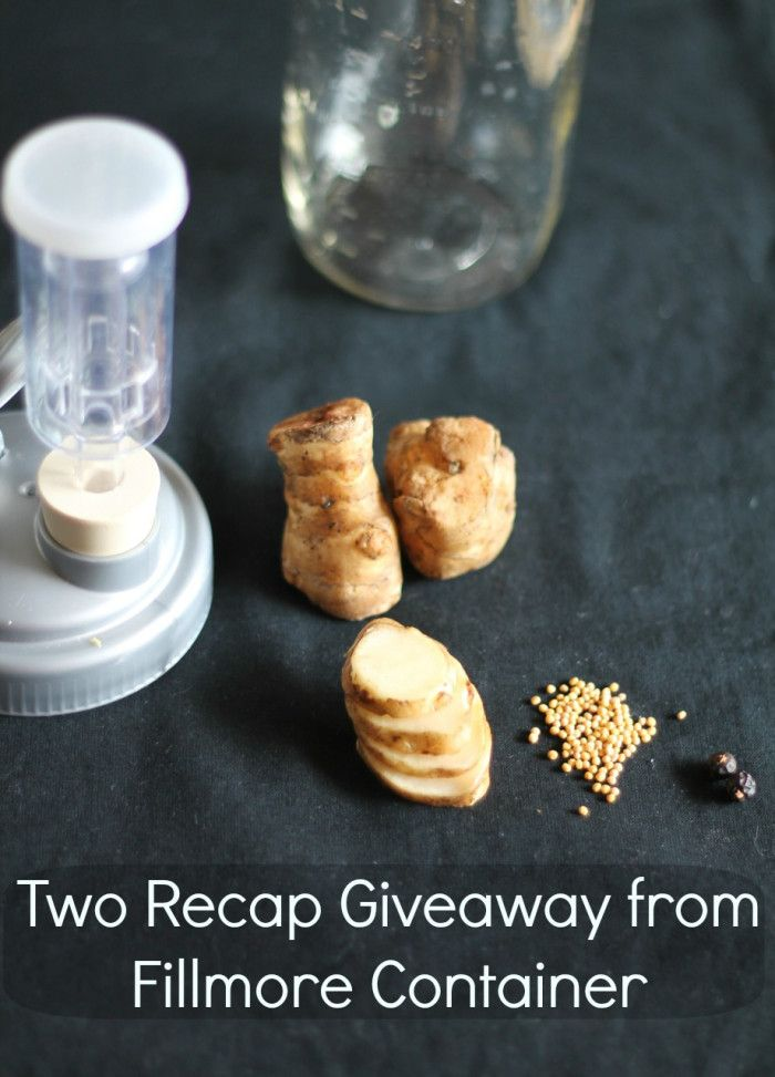 Win two reCAPs from Fillmore Container! | They're neat and even reduce some of the (IMO wonderful) odors associated with fermentation | On Phickle.com | Click through for a sunchoke pickle recipe, too! |