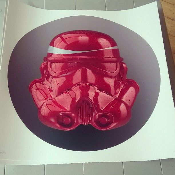 New in! Cola Trooper by The Strange Case Company #cola #starwars #art #giclee #silkscreen #instaart